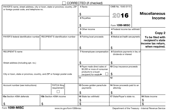 free fillable 1099 form 2016 free 2016 1099 form - Koto.npand.co